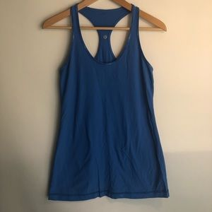 Lululemon Cool Racerback Tank Top Blue Size 8